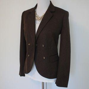 TAHARI Size 8 Brown Suit Jacket Blazer